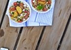 RECIPE 1: Farmers' Market Bowl with Corn, Peach & Feta