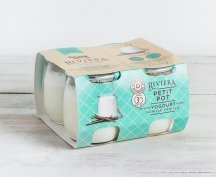 Riviera Goat Milk Vanilla Yogurt, 4 single servings (short dated, while quantities last)
