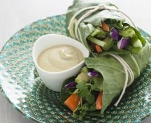 RECIPE 6: Joy McCarthy's Sunshine Wraps with Zesty Almond Sauce