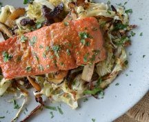 RECIPE 5: Teriyaki Salmon with Shiitake Mushrooms & Cabbage