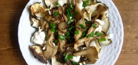 Black Radish and Mushroom Salad