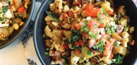 Tofu & Bell Pepper Scramble with Home-Style Potatoes