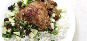 Fesenjan Persian Chicken with Rice, Apple & Walnuts