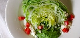 Iceberg Wedge Salad with Healthy Avocado Dressing