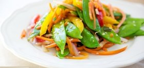 Snow Pea and Red Onion Salad