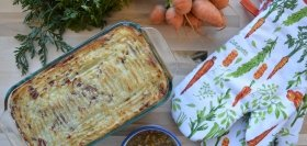 Root Veggie Shepherd's Pie with Mushroom Gravy