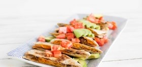 Sweet Potato Quesadillas with Avocado & Beans