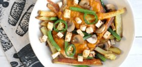 Butter ChickUN Fries with Tofu & Green Beans
