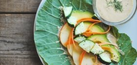 California Collard Wraps & Miso Soup