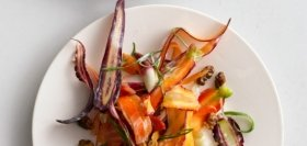 Golden Beet and Purple Carrot Salad with Yogurt and Coriander
