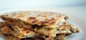 Avocado and Mushroom Quesadilla