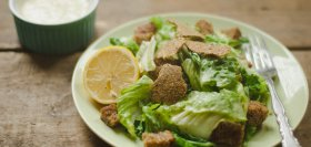 Vegan Caesar Salad with 'Parm' Crisps