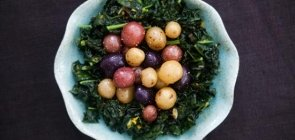 Kale Nest with Multicoloured New Potato
