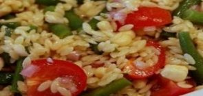 Orzo Salad with Beans, Corn, and Tomatoes
