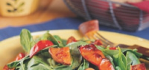 Roasted Sweet Potato Salad with Red Peppers