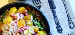 Maple-Glazed Squash Bowl with Rice & Pomegranate