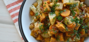 Root Vegetable Tagine with Chickpeas & Quinoa