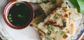 Green Garlic Pancakes