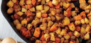 Apple, Celeriac & Root Vegetable Hash