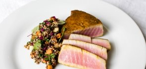 Andrew's Seared Tuna with Orchard Apple Quinoa