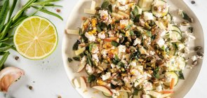 Zesty Spring Zucchini Salad with Marinated Feta