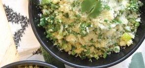 Spring Asparagus Couscous with Lemon & Toasted Hazelnuts