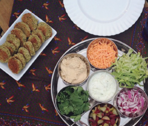 RECIPE 1: Chickpea Falafel Wraps with Tomatoes & Tzatziki