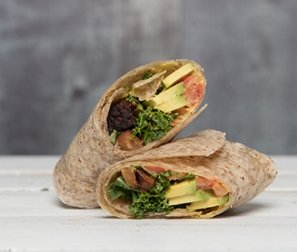 Tempeh Club Wrap