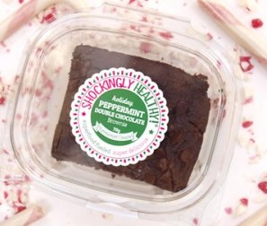 Holiday Peppermint Double Chocolate Brownies