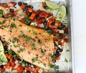 RECIPE 5: Tex Mex Trout with Black Beans & Avocado