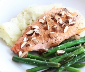 Organic Trout with Herb-Mashed Potatoes & Lemony Greens