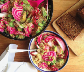 RECIPE 6: Radish Super Grain Bowl with Avocado & Pumpkin Seeds