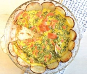 RECIPE 5: Smoked Salmon Quiche with Asparagus & Dill