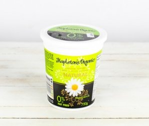 Yogurt, 0% Fat-Free Plain (Mapleton's)