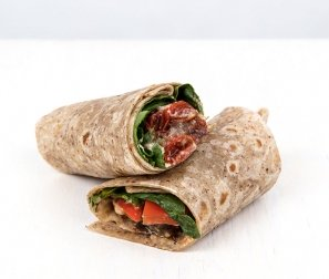WRAP: Roasted Veg & Hummus