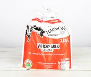 Milk, Whole Homogenized Bags