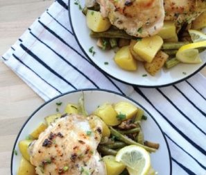 RECIPE 3: Lemon-Herb Chicken with Oven-Roasted Veggies
