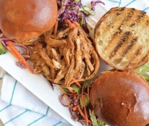 RECIPE 4: Quick Pulled Pork Sammies with Carrot & Cabbage Slaw