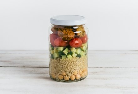 Falafel Salad, jar