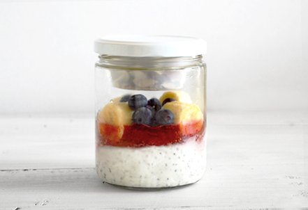 Berry Yogurt Parfait Breakfast, jar
