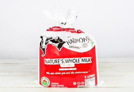 Milk, 3.8% Nature's Non-Homogenized Bags