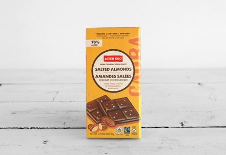 Chocolate Bar, Salted Almonds 70%