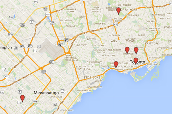 New Pickup Locations in The Annex, Yorkville, Mississauga, Roncesvalles & the PATH!