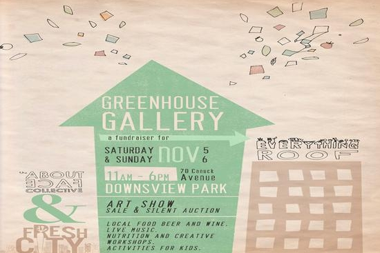 Greenhouse Gallery, November 5th/6th, 11am to 6pm