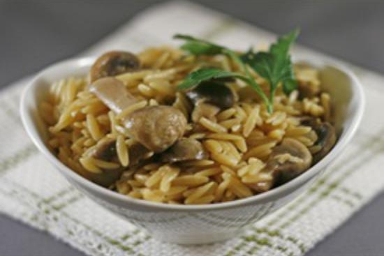 Orzo Pilaf with Mushrooms, Leeks, and Oven-Dried Tomatoes