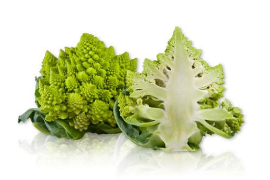 Romanesco Cauliflower Steaks with Cauliflower Puree