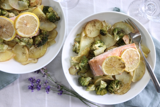 Organic Trout with Potatoes & Greens