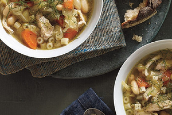 Slow-Cooker Chicken, Fennel, and White Bean Soup