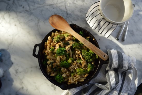Broccoli & Tuna Macaroni Casserole with Thyme