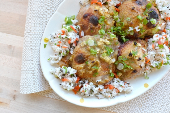 Heavenly Chicken with Herbed Vegetable Rice